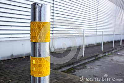 Traffic bollard for safety street and structure at parking lot