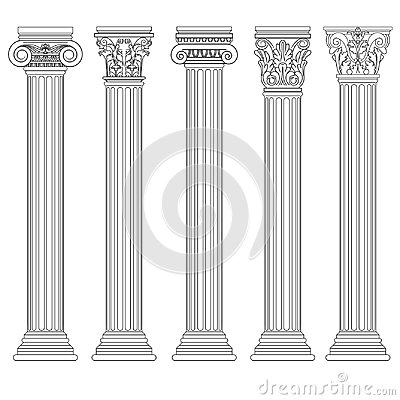 Roman column set, Greek pillar, Ancient architecture