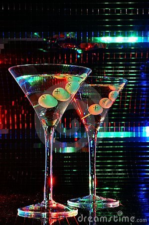 Pair of martini glass