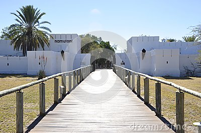 The historic Fort Namutomi of Namibia Wildlife Resorts NWR in