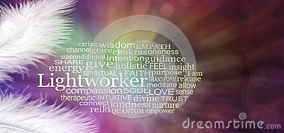 Angelic Lightworker Word Tag Cloud