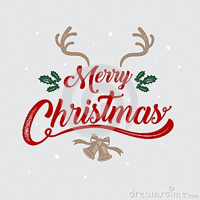 Merry Christmas, happy new year, logo & symbol design, vector il