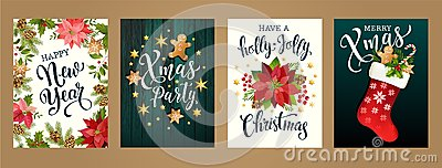 Merry Christmas and Happy new year 2019 white and black colors. Design for poster, card, invitation, card, flyer, brochure. Vector