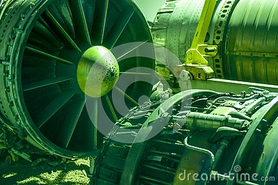 Aerospace engineering, pieces of aircraft machinery,