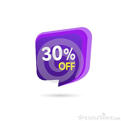 stock image of sale discount banner. discount offer price tag. special offer sale purple label. vector modern sticker illustration. isolated back