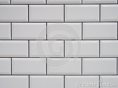 White tile with black joints