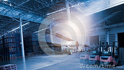 stock image of background of transport and logistics supply chain