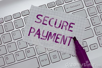 Conceptual hand writing showing Secure Payment. Business photo text Security of Payment refers to ensure of paid even in dispute