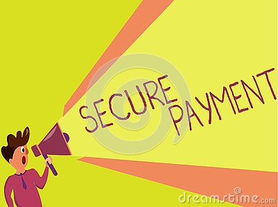Handwriting text writing Secure Payment. Concept meaning Security of Payment refers to ensure of paid even in dispute