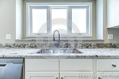 Bright and contemporary kitchen sink