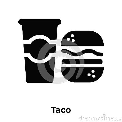 Taco icon vector isolated on white background, logo concept of T