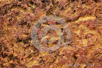 The free form of red rock texture