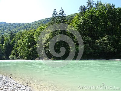 Landscape by the river Isar near valley Fleck, Bavaria