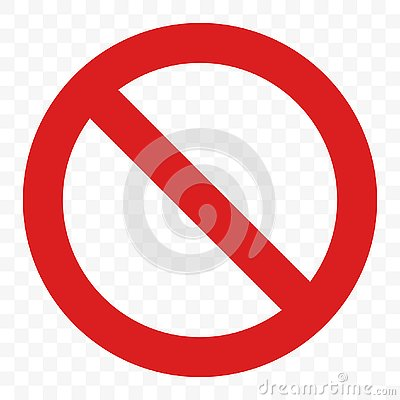 Stop sign vector no entry pass warning red icon