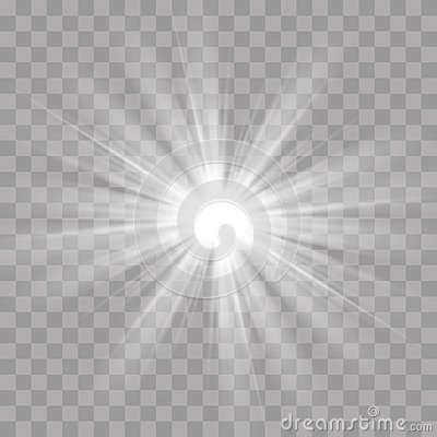 Light rays flash sun star shine radiance effect