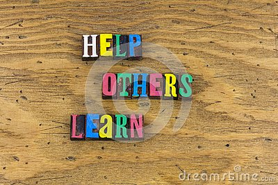 stock image of help others learn helping education