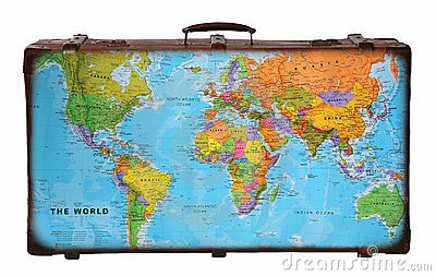 stock image of travel suitcase