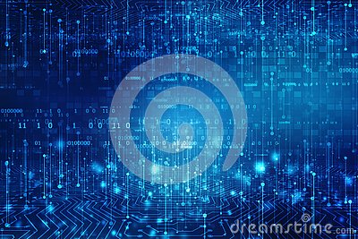 Technology Abstract Background, futuristic background, cyberspace Concept
