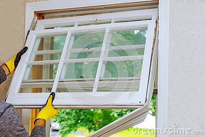 renovation work in an old house and replacing windows