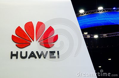 Huawei Technologies Co., Ltd. is a Chinese multinational networking, telecommunications equipment, company branding logo. l