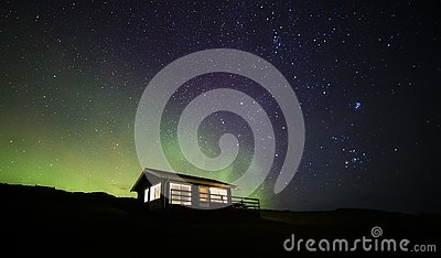 Northern lights cabin