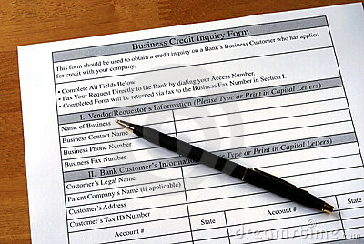 Make the business credit inquiry