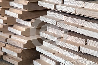 Timber, wood building material for background and texture. details wood production spike. composition wood products
