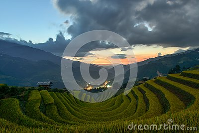 Sang Nhu horse-shoe and Terraced rice field of the H`Mong ethnic people