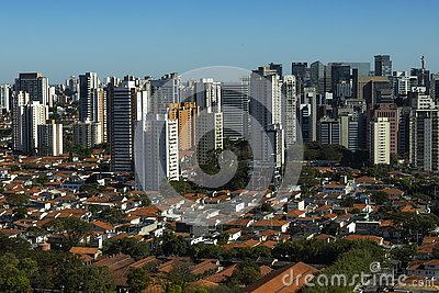 stock image of largest cities in the world. city of sao paulo, brazil.