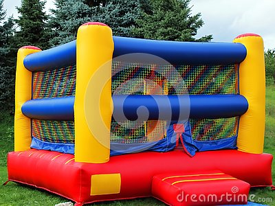 Children`s Colorful Bounce House