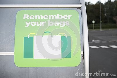 Remember to re-use your plastic bags for shopping to help reduce pollution and waste