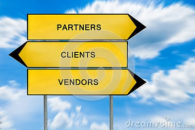 Yellow street concept partners, vendors and clients sign