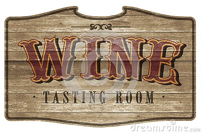 Wine Tasting Room Sign Logo Art Wooden Western Style