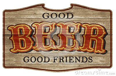 Beer Sign Wooden Plaque Old Western Friends