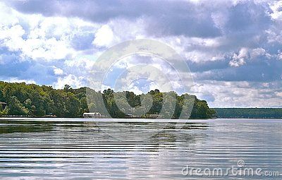 On the shimmering water in Detroit Lakes, Minnesota