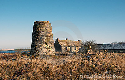 Windmill and pilot House at Castlehill Heritage Centre,Castletown  Caithness,Scotland,UK