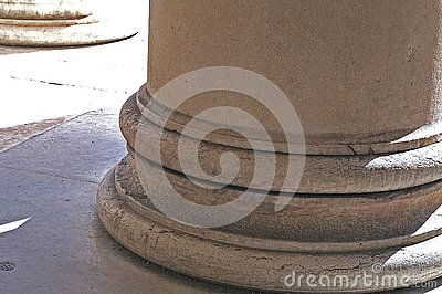 Base of a classical column