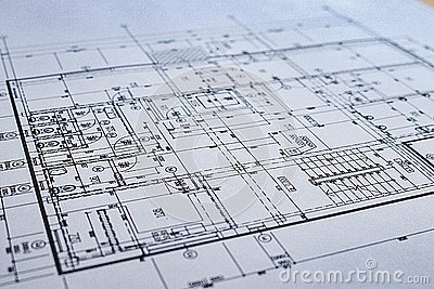 Construction drawing Architecture Detail White paper with dimensions and lines