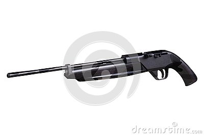 Rifle Isolated on Whie