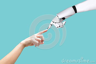Human hand and robot hand system concept Integration and coordination of intellectual technology