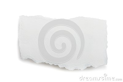 Ripped piece of paper