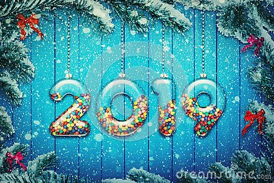 stock image of new year 2019
