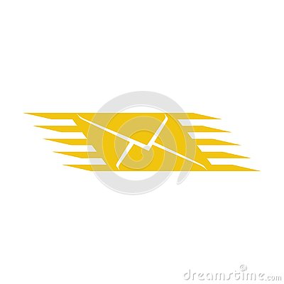 Logo fast mail. Mail or post office icon. SMS sign.