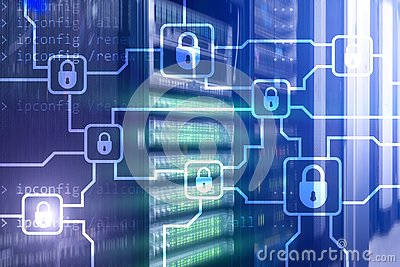 Blochain information encryption. Cyber security, crypto currency