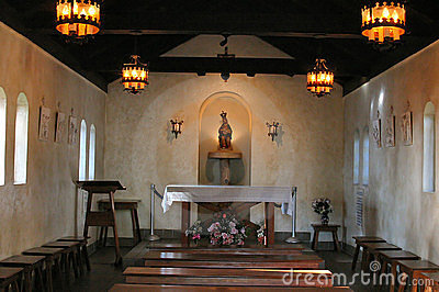 Interior of small chapel