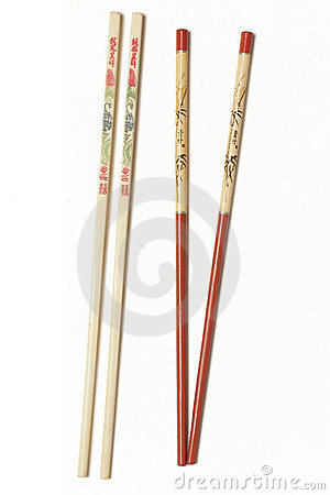 Chopsticks with Plain Background