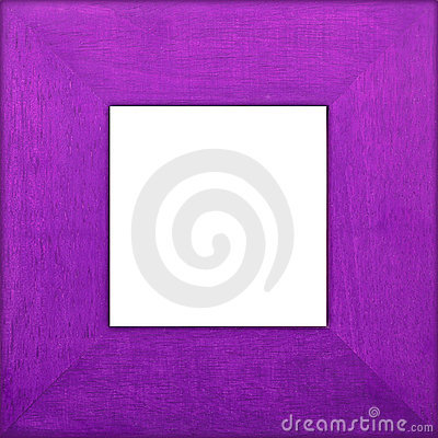 Purple Wooden Square Frame