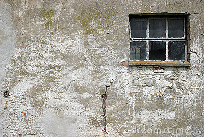 Old wall with window