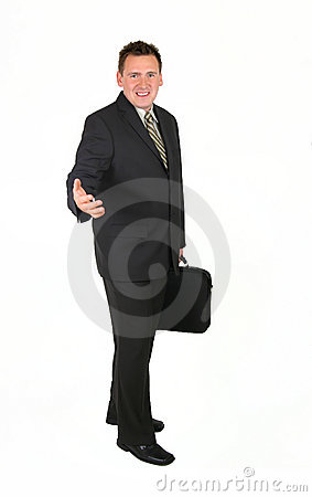 Standing Businessman - Welcome
