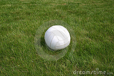Ball on grass.